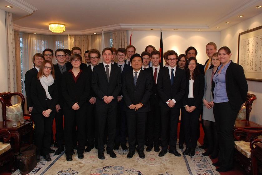 Die Delegation der LMU München gemeinsam mit Herr Generalkonsul Zhu
