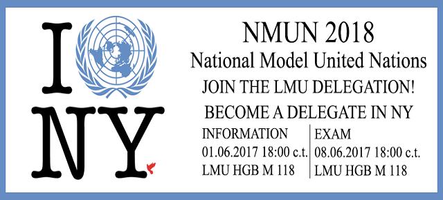 Es geht wieder los! Delegates für NMUN 2018 gesucht